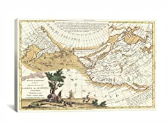 Antique Map Mare Del Sud  26x18