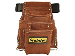 Graintex 10-Pocket Leather Nail & Tool Pouch