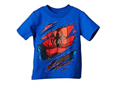Spiderman Short Sleeve Tee- Blue (2T-4T)