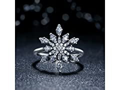 Crystal Snow Flake Ring