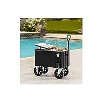 Deals on Sunjoy A601006600 Audrey 60-Quart Rolling Cooler Cart