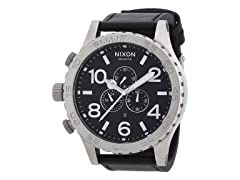Nixon Chronograph A124000 Men's Black Leather Watch