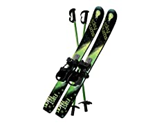 Lucky Bums Kids Snow Skis w/ Poles