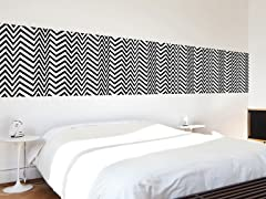 Seizure Large Black and White Tiles