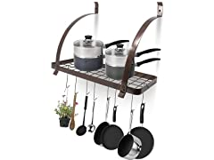 Sorbus Wall Mount Pot Rack Bronze