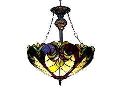 Victorian 2-light Inverted Pendant Fixture