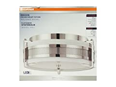 LED Indoor Ceiling Mounted Fixture, Polished Nickel