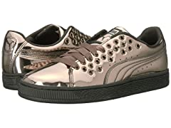 PUMA Women's Basket XL Lace Metal Wn Sneaker