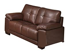 Kensington Leather Loveseat