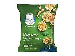 Gerber Organic Popped Crisps Lentils