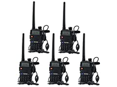 BaoFeng UV-5R Two-Way Radio - 5 Pack