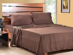 Microfiber Sheet Set-Set of 2-Chocolate-3 Sizes