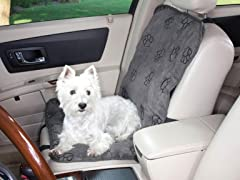 Guardian Gear Pawprint Single Seat Cover - Charcoal