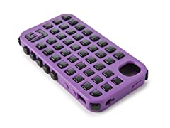 Grid iPhone 4/4S Case - Purple/Black