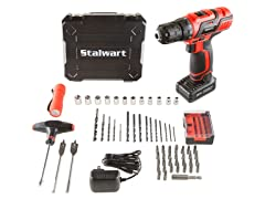 20V Lithium Ion 62 Pc Cordless Drill and Accessory Kit