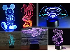 Disney, Marvel, DC 3D Lights
