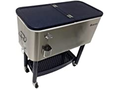 BEACON Stainless Steel Rolling Party Cooler