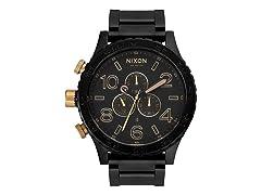 Nixon Chronograph Men's Matte Black/Gold Watch