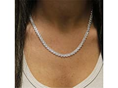 "Sterling Silver 24"" Bismark Necklace"