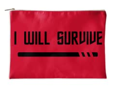 Red Shirt Affirmations Accessory Pouch