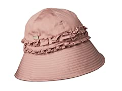 Gardenia Fabric Cloche Hat, Pink