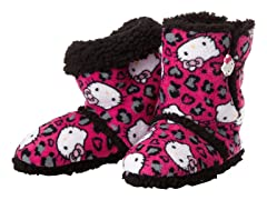 Hello Kitty Junior's Short Slipper Bootie, Cheetah