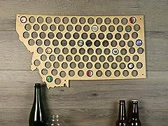 Beer Cap Map: Montana