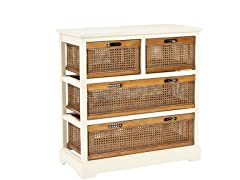 Jackson 4 Drawer Unit - White