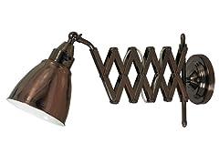 Accordion Swing Arm Lamp- Copper Bronze Finish