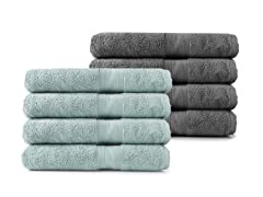 MicroCotton 4pc Bath Towel Set-8 Colors
