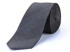 Silk Tie, Dark Grey