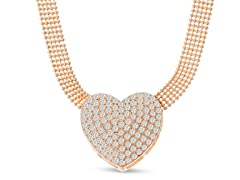 Swarovski Elements Heart Choker Necklace In Gold