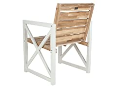 Irina Outdoor Arm Chair, White/Oak