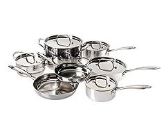 Cuisinart 12-Pc Triply Cookware Set