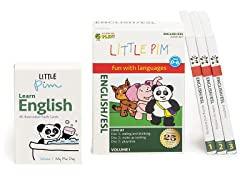 Little Pim English Vol 1- 3 Pack DVD Set and Flashcards