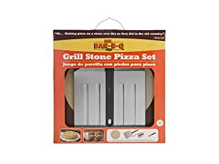 Mr. Bar-B-Q 06187X Grill Stone Pizza Set