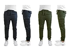 Men's Cargo Twill Joggers 2-Pack