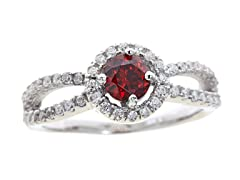 Red Simulated Diamond Ring