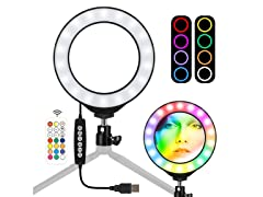 LED Ring Light with Tripod & Phone Mount
