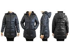 Women's Long Hooded Puffer Jacket