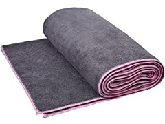 AmazonBasics Hot Yoga Mat Towel - 72 x 24""