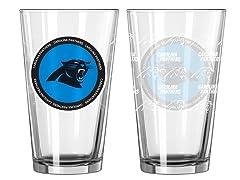 Carolina Panthers ROH Pint Glasses (2)
