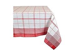 "DII Color Pop Plaid Tablecloth, 60x120"""