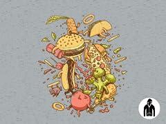 Food Fight Jersey Zip Hoodie