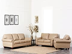 Franklin 3-Pc Leather Set
