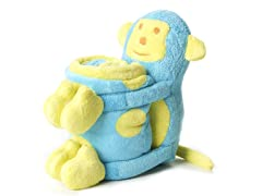 Elegant Baby Blanket & Toy - Monkey