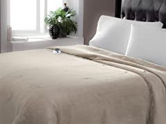 Serta Luxe Plush Electric Warming Blanket- 2 Sizes