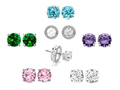 Set of 5 Interchangeable Crystal Studs