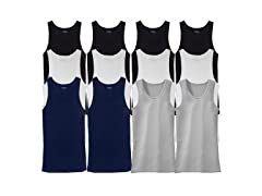 Men's 12-Pack Basic Tank Tops