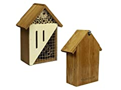 Bee & Butterfly Wooden Insect Home